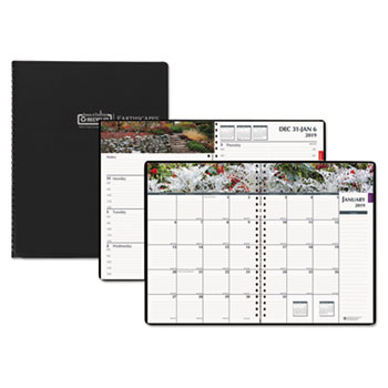 recycled gardens of the world weeklymonthly planner 7 x 10 black 2019