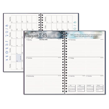 Recycled Academic WeeklyMonthly Appointment BookPlanner By House