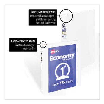 avery binders white black economy view ontimesupplies com