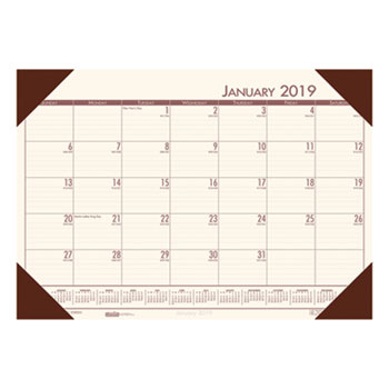 Ecotones Cream Brown Monthly Desk Pad Calendar By House Of Doolittle