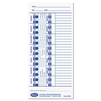 Lathem® Time Time Cards Thumbnail