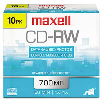 Maxell® CD-RW Rewritable Disc Thumbnail