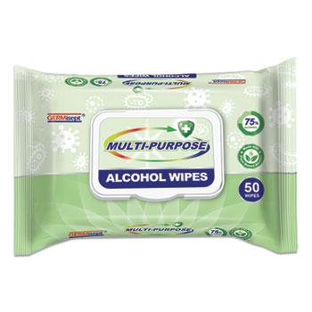 MULTI PURP ALCOHOL WIPES 50/PK