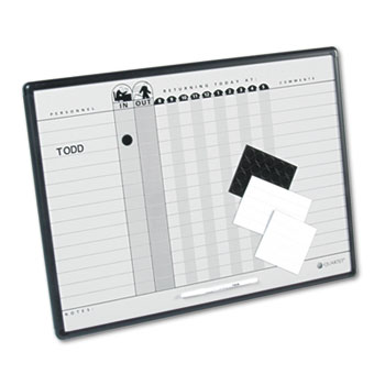 Quartet® Employee In/Out Board System Thumbnail