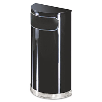 Rubbermaid® Commercial European & Metallic Series Half-Round Waste Receptacle Thumbnail
