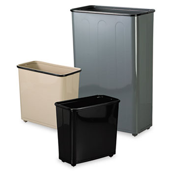 Rubbermaid® Commercial Fire-Safe Steel Rectangular Wastebaskets Thumbnail