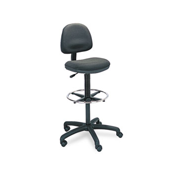 Safco® Precision Extended-Height Swivel Stool with Adjustable Footring Thumbnail