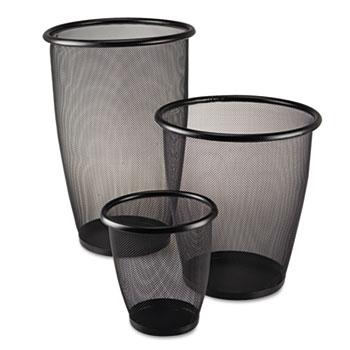 Safco® Onyx™ Round Mesh Wastebaskets Thumbnail