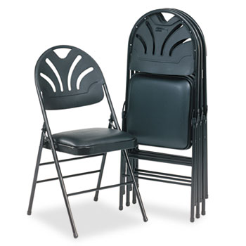 Cosco® Fanfare™ Fabric Padded Seat & Deluxe Molded Back Folding Chair Thumbnail