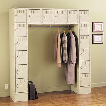 Tennsco Sixteen Box Compartments and Coat Bar Thumbnail