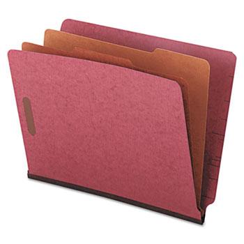 Universal® Red Pressboard End Tab Classification Folders Thumbnail