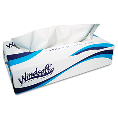 Windsoft® Facial Tissue in Pop-Up Box, 100/Box, 6 Boxes/Pack - WIN2430