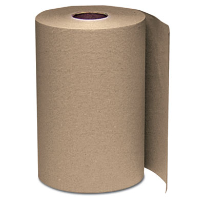 Windsoft® Nonperforated Paper Towel Roll, 8 x 350ft, Brown, 12 Rolls/Carton - WIN108