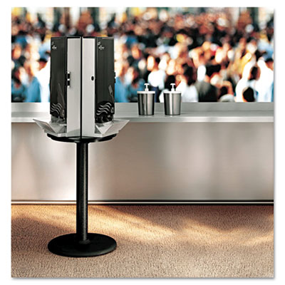 dixie smartstock cutlery dispenser, stand, 18-1/4 dia x 42h, black