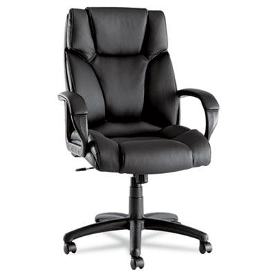 Fraze Series High-Back Swivel/Tilt Chair, Black Leather ALEFZ41LS10B