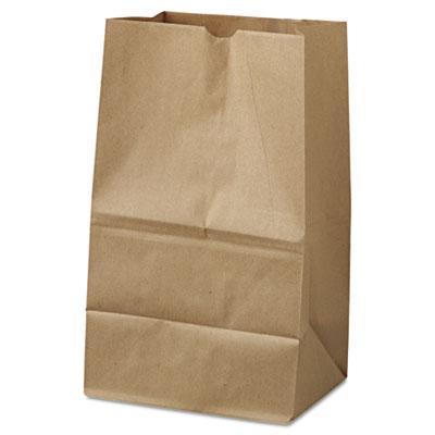 "Grocery Paper Bags, 40 lbs Capacity, #20 Squat, 8.25""w x 5.94""d x 13.3"