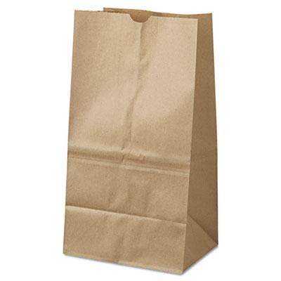 #25 PAPER BAG 40LB 8x6x16 KRAFT 500/PK