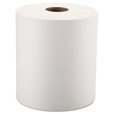 "Windsoft® Nonperforated Roll Towels, 1-Ply, White, 8"" x 800ft, 6 Rolls/Carton - WIN12906"