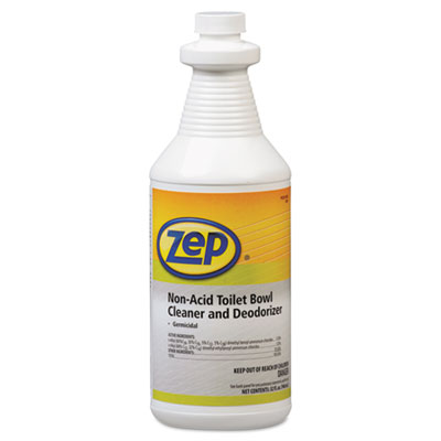 Zep Professional® Toilet Bowl Cleaner, Non-Acid, qt, Bottle - ZPP-1041410