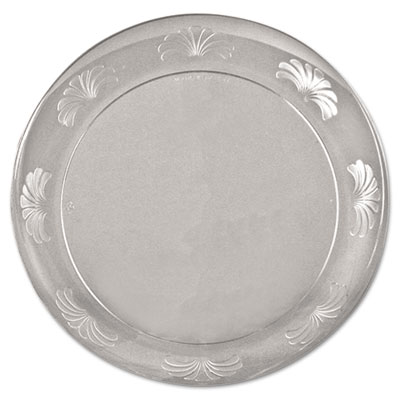 WNA Designerware Plastic Plates, 7 1/2 Inches, Clear, Round, 10/Pack - WNA DWP75180