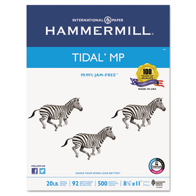 hammermill everyday copy and print paper, 92 bright, 20lb, letter, white 5000 sheets/ctn