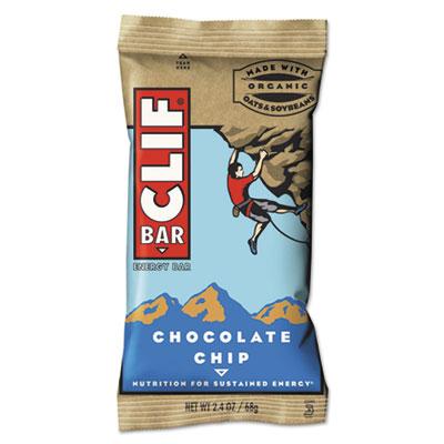 Energy Bar, Chocolate Chip, 2.4 oz, 12/Box