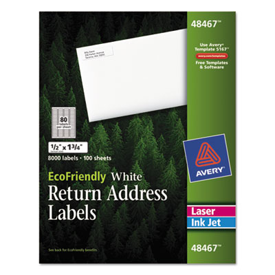 Avery® EcoFriendly Mailing Labels