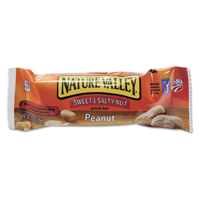 Granola Bars, Sweet and Salty Nut Peanut Cereal, 1.2 oz Bar, 16/Box
