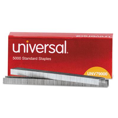 "Standard Chisel Point Staples, 0.25"" Leg, 0.5"" Crown, Steel, 5,000/Box"