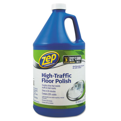 Zep Commercial® High Traffic Floor Polish, 1 gal Bottle - 1044999