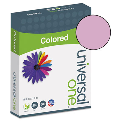 Universal® Colored Paper, 20lb, 8-1/2 x 11, Orchid, 500 Sheets/Ream - UNV11212