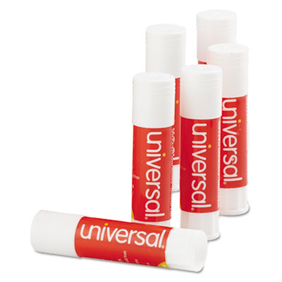 Glue Stick, 0.28 oz, Applies and Dries Clear, 12/Pack
