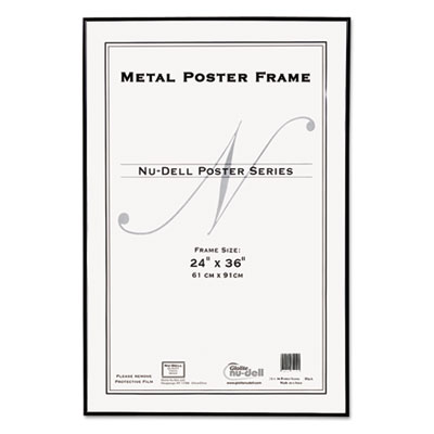 Metal Poster Frame, Plastic Face, 24 x 36, Black - Stone Printing ...