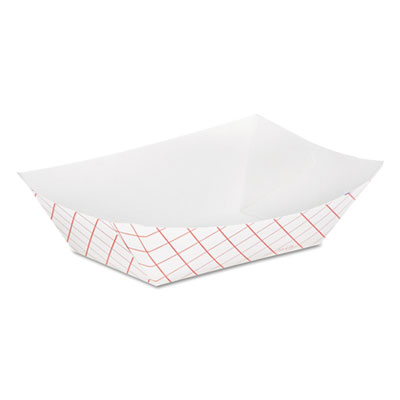 FOOD TRAY RP50 PAPER 1/2# RED CHECK 250/PKG 1000/CS