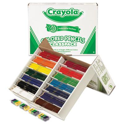 Color Pencil Classpack Set, 3.3 mm, 2B (#1), Assorted Lead/Barrel Colors, 462/Box
