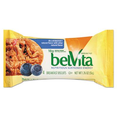 belVita Breakfast Biscuits, Blueberry, 1.76 oz Pack, 8 Per Box