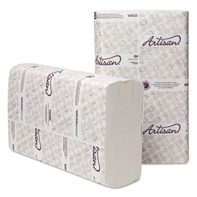Wausau Paper® Artisan Folded Towels, Optifold, 10 1/4 x 9 1/2, White, 250/Pack, 12 Packs/Ct - 4420