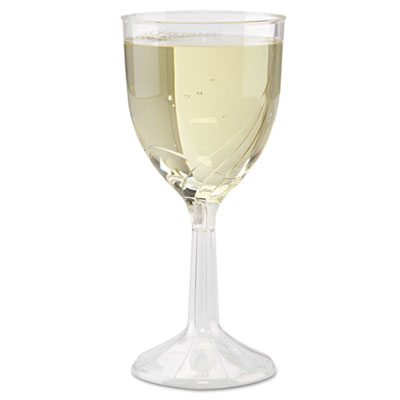 WNA Classicware One-Piece Wine Glasses, 6 oz., Clear, 10/Pack - WNA CWSWN6