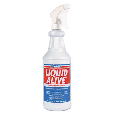 Dymon® LIQUID ALIVE Enzyme Digestant Carpet/Textile Cleaner/Deodorizer, 1gal Bottle