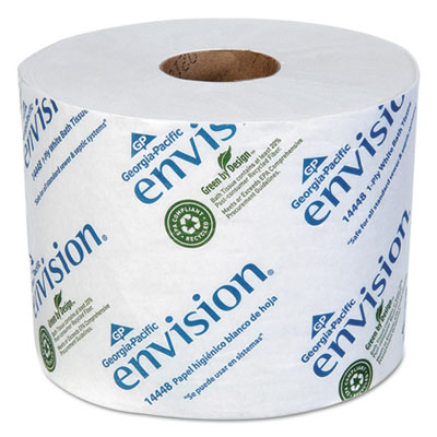 Envision High Capacity Standard Bath Tissue 1 Ply White 1500 Roll 48 Carton Stone Printing Office Supply