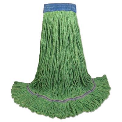 Green super loop mop head