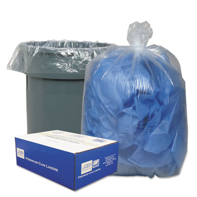 Classic Clear Clear Low-Density Can Liners, 56gal, .9 Mil, 43 x 47, Clear, 100/Carton - WEBWRMC48