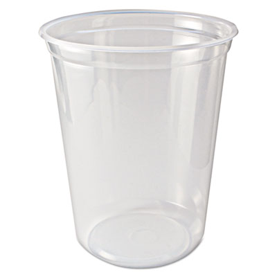 Microwavable Deli Containers, 32 oz, Clear, 500/Case