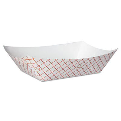 FOOD TRAY RP3008 PAPER 3# RED CHECK 250/PKG 500/CS
