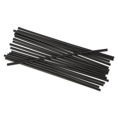 "SIPPER STRAW UNWRAP 5.25"" BLACK 10/1000"