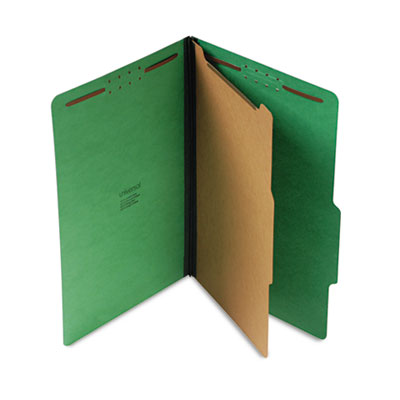 Pressboard Folder Legal Four Section Emerald Green 10 Box Stone Printing Office Supply
