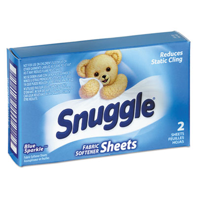 Snuggle® Vend-Design Fabric Softener Sheets, Blue Sparkle, 2 Sheets/Box, 100 Boxes/Carton - VEN 2979929