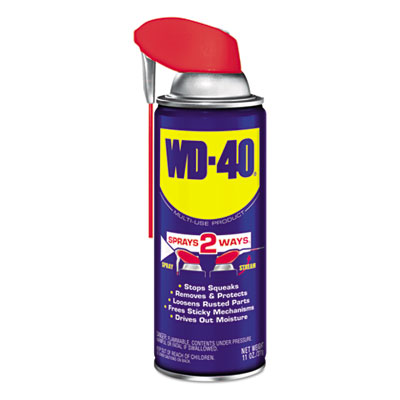 WD-40® Smart Straw Spray Lubricant, 11 oz. Aerosol Can, 12/Carton - WDC 490040