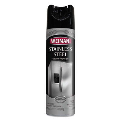 WEIMAN® Stainless Steel Cleaner and Polish, 17 oz Aerosol, 6/Carton - 49CT