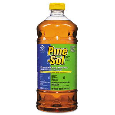 pine-sol multi-surface cleaner, pine, 60oz bottles, 6 bottles/carton
